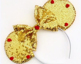 The Full Sequin (Beauty) - Handmade Belle Beauty and the Beast Inspired Mouse Ears Headband