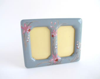 Vintage Ceramic Double Picture Frame