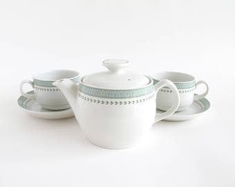Vintage Ceramic Tea Set, Steelite International England, Tea For Two