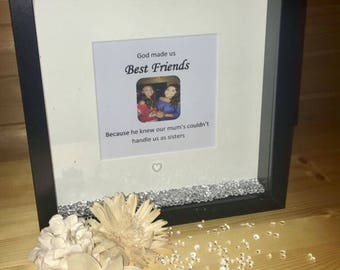 Best friend frame, best friend gift, friend gifts, true friendship, friend birthday gift, friends christmas gift, friends frame