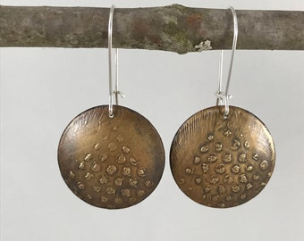 Etched Dot Earrings