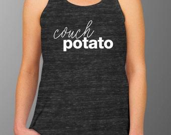 Couch Potato Flowy Tank