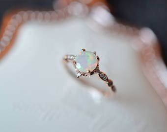 opal wedding ring rose gold opal engagement ring ethiopian opal