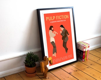 Pulp Fiction / Pulp Fiction Movie Poster / Wall Art / Minimalist Movie Poster / Dance Scene / Film Poster print / Pulp Fiction Print