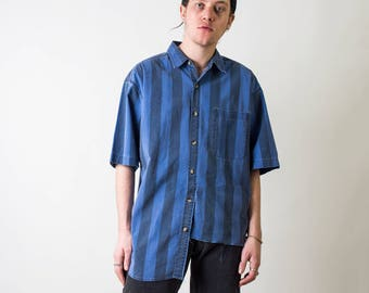 Distressed Asymmetrical Vintage Shirt