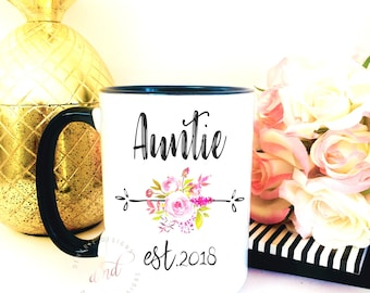 Pregnancy reveal idea, personalized gift, aunt mug, personalized mug, new aunt mug, auntie mug, mothers day gift, aunt gift, best aunt,
