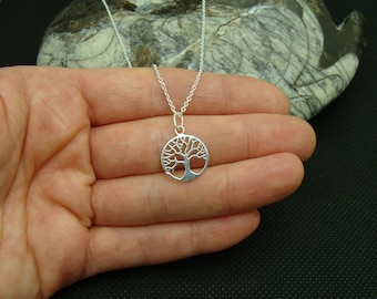 Sterling Silver 14mm Tree of Life pendant, sterling silver charm, chain not included