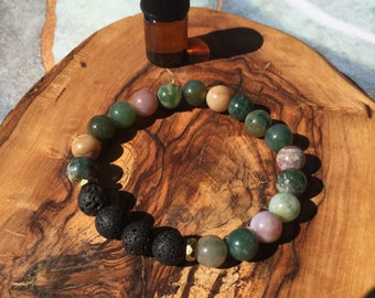 FANCY JASPER essential oil bracelet: tranquility, clarity, healing, grounding
