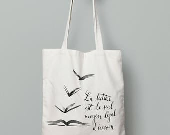 Tote Bag quote + illustration