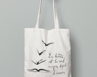Tote Bag quote + illustration
