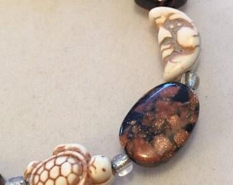 Sandstone  beaded gemstone bracelet