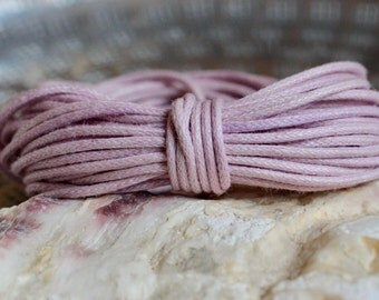 Waxed Cotton Cord, Pastel Pink