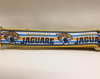 Martingale Dog Collar, Medium Blue and Gold Martingale Collar, Medium Jaguars Martingale Dog Collar, Medium Adjustable Dog Collar