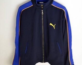 Puma jacket vintage Men S M Vintage Puma 90s jacket Puma coat vintage Bomber jacket Puma Windbreaker 90s Puma Puma jumper Vintage jacket men