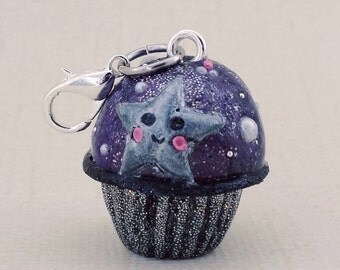 Outer space Holo cupcake charm
