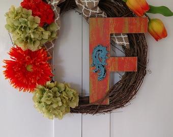 Custom Letter Wreath