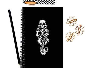 Writing Journal, Dark Mark Notebook, Bullet Journal, Planner, Spiral Notebook, Sketchbook