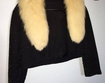 Fabulous Fur Trimmed Bolero