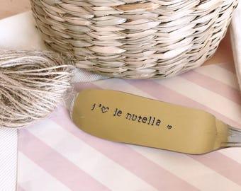Nutella - knife engraved knife