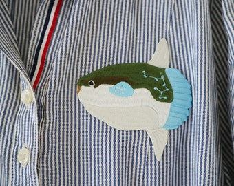 Sea Life 〈Sunfish〉Patch Embroidery Build-to-order manufacturing