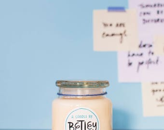 Betley | Large Seagrass & Wild Lavender | Natural Soy Candle | Handmade | Social Enterprise