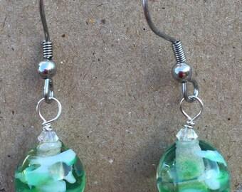 Earrings with Murano glass beads