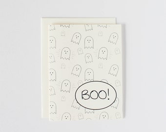 Halloween Ghost Boo Card - Oh Goodness Paper Co