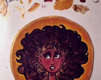 Acrylic Flower Child Commission