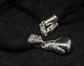 Silver# Boxing gloves pendant