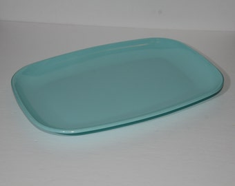 Vintage, Gencraft, Turquoise, MELMAC, by GPL, 388, Melamine, Turquoise, Serving platter, Hard Plastic, Made in Canada, Turquoise blue, tray