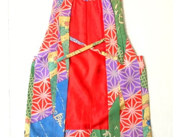 Authentic Japanese Vintage Silk Chanchanco Waistcoat Child Size