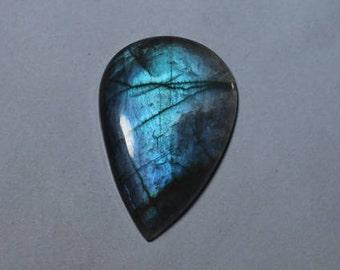 Natural Blue labradorite Loose Stone 48Ct (40X27mm)#1850