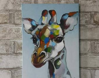 Giraffe,oil painting, hand made