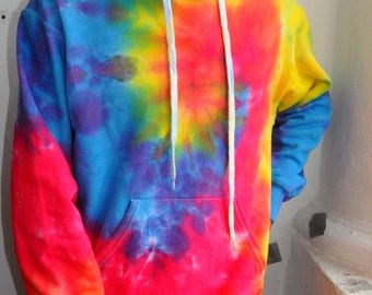 Acid Festival Rave Watercolor Rainbow Tie Dye Hoodie Valentines day Gift for Her Clothing Gift for Him  Hippie Cotton by PacifyShopUA