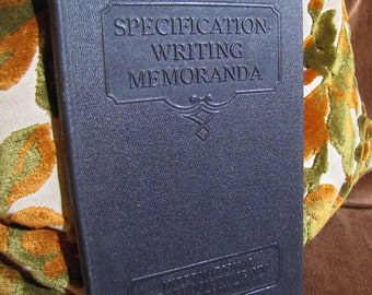 "Vintage ""Specification - Writing Memoranda"" by International Textbook Company of Scranton PA copyright 1934 #268"