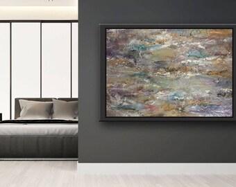 GLACIER- original artwork, resin art,modern home decor, abstract large painting, well known artist, handmade art