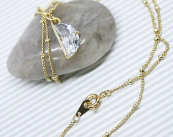 Glossy Cubic Zirconia Necklace