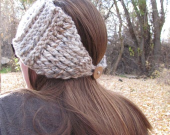 Sweet Ridges Ear Warmer: Crochet Women's Ear Warmer, Fall and Winter Fashion