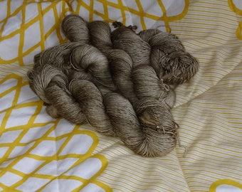 Hand Dye Yarn - White Sage - Kettle Dyed Tonal Sock Yarn 100% Superwash Merino SINGLE PLY