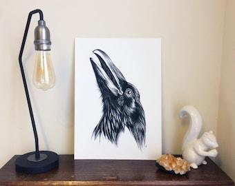 Crow Giclée A3 Art Print