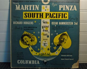 "Pinza ""South Pacific"" Oscar Hammerstein 2nd (1949) - ML 4180 - Vintage LP - Rare Soundtrack Album - Military gift - Martin Pinza"