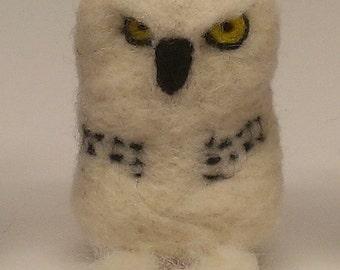 Felted Snowy Owl