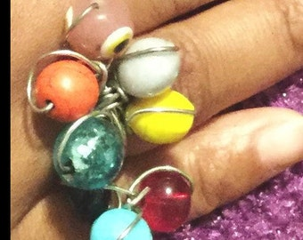 Unique stone ring jewelry