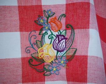 New Embroidered Kitchen Towel