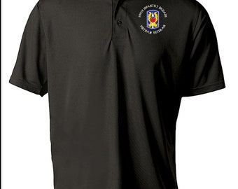 "199th Light Infantry Brigade ""Vietnam"" Embroidered Moisture Wick Polo Shirt -8733"