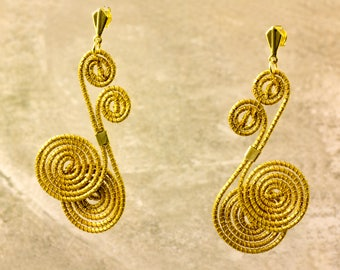 Alessia Golden Grass Earrings