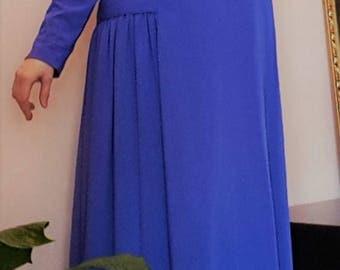 Boho dress made of lilac viscose