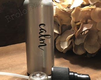 Personalized Travel Fine Mist Spay Bottle 80ml | Aluminum Atomizer Pump | Perfect for your DIY Essential Oil Spray
