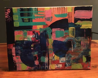 Abstract acrylic canvas