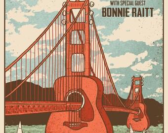 James Taylor Bonnie Raitt 2017 San Francisco Giants Stadium Tour Gigposter Poster by GIGART